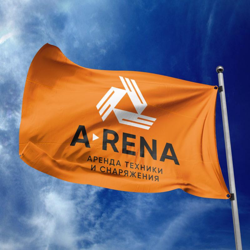 Вариант логотипа центра проката <br> техники и снаряжения «Арена»
