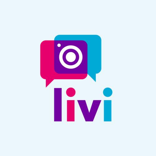 Вариант логотипа сервиса <br> поиска фотографов «livi»