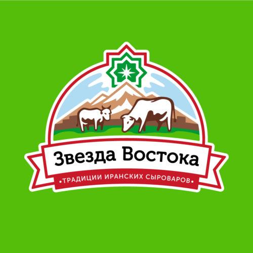 Логотип производителя <br> сырной продукции «Звезда Востока»