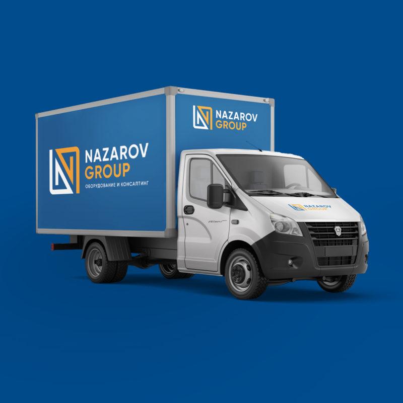 Логотип и элементы фирменного стиля <br> фуд-интегратора NAZAROV GROUP